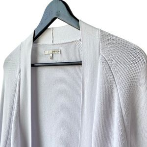 OAK + FORT White Long Cardigan